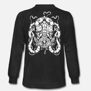 MR. WILDFIRE 'GAS MASK LOGO' UNISEX LONG SLEEVE T-SHIRT PRE-SALE